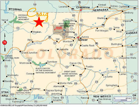 Colorado City Utah Map.Craig Attractions Template